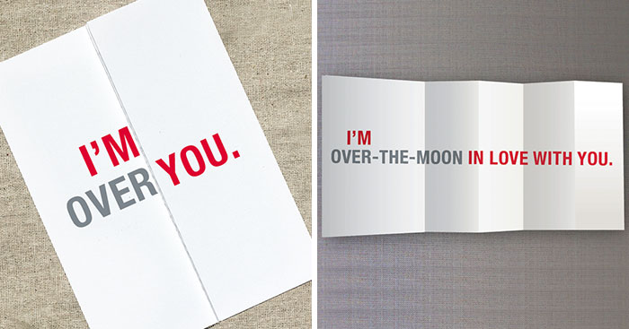 15+ Seemingly Offensive Fold-Out Greeting Cards With Hidden Messages Inside