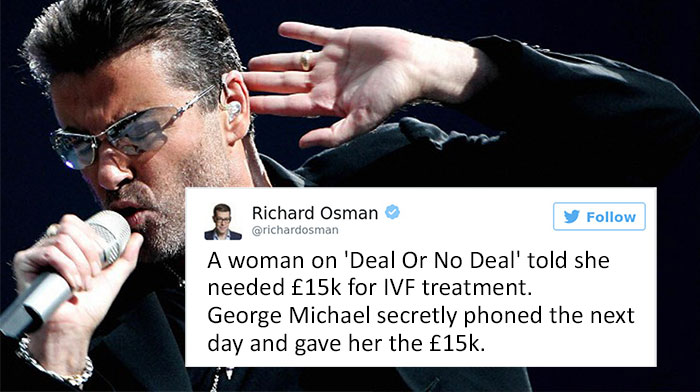 People Are Tweeting Stories About George Michael's Incredible Generosity