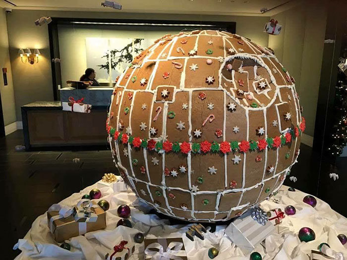 """Fully Operational"" Gingerbread Death Star Is Taking Gingerbread House Game To The Next Level"