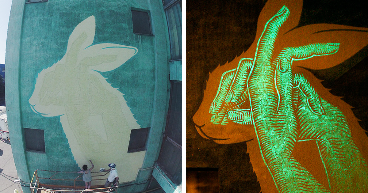 Murales que brillan en la oscuridad para sorprenderte de noche ...