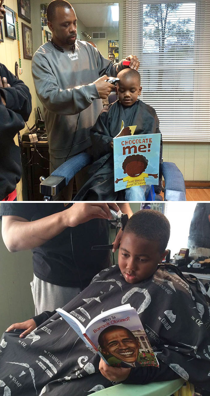 This Barbershop Will Return Money To Kids On One Condition – If They Read Out Loud