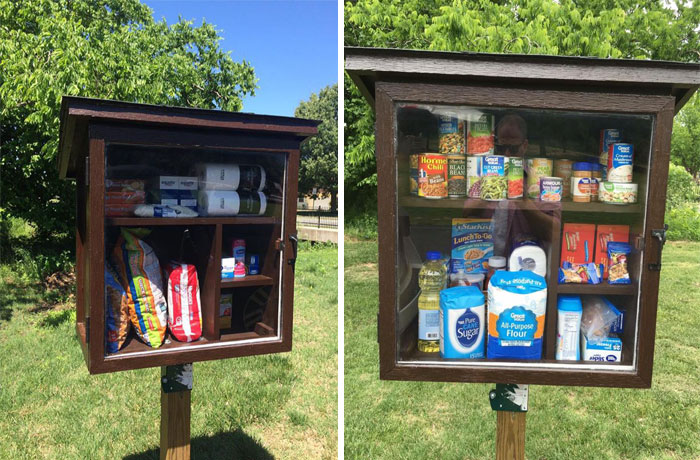 Woman Built Little Street Pantry Where People Can Leave Products For Those In Need