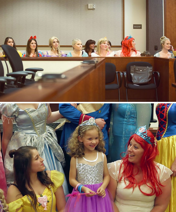Entire Courtroom Dresses As Disney Characters For 5-Year-Old Girl's Adoption Hearing