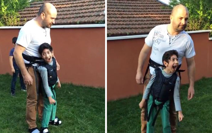 This Father Takes His Paralyzed Son For A Walk And The Boy's Reaction Says It All