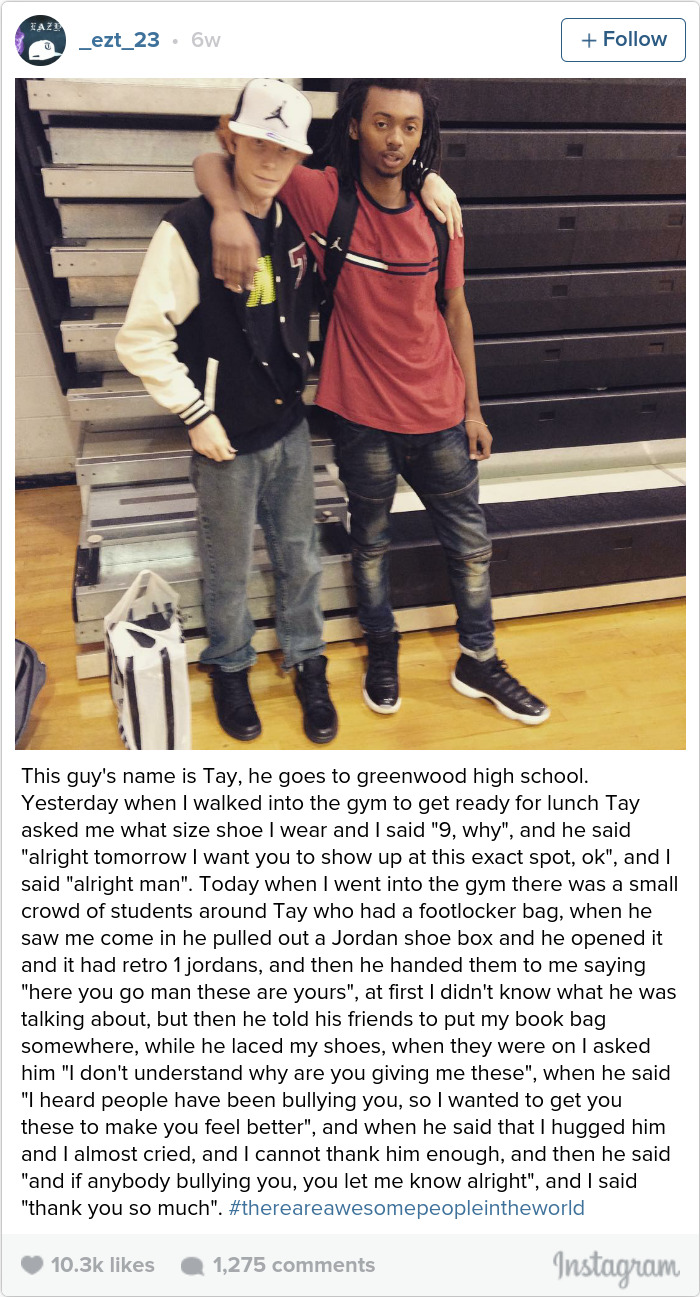 High School Senior Buys New Shoes To A Bullied Student