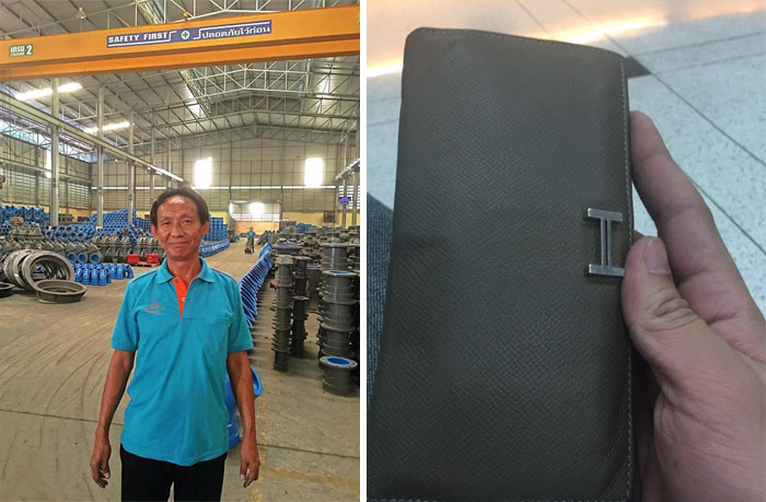 A Homeless 44-Year-Old Man Who Handed In A Designer Wallet Full Of Cash Was Given The Ultimate Reward For His Actions – A Job At Factory In Bangkok And A New Flat To Live In