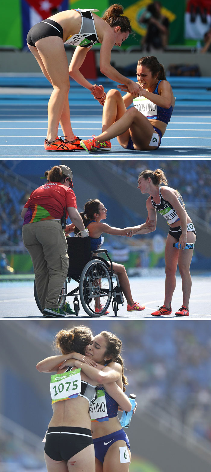 Olympic Runners Who Came Last After Helping Each Other Get Moved To The Finals
