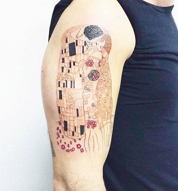Gustav Klimt Tattoo
