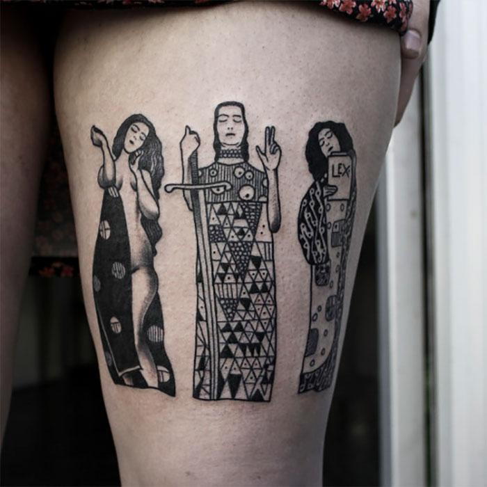 Gustav Klimt Tattoo