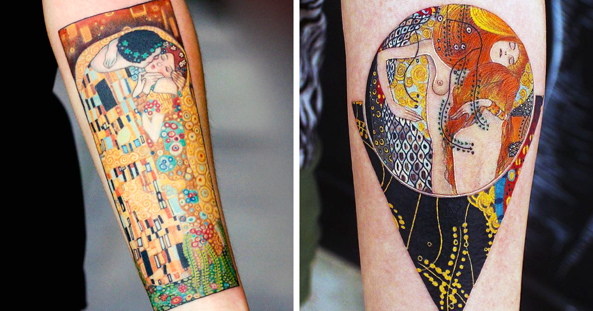 10 gustav klimt tattoos to show your artistic side
