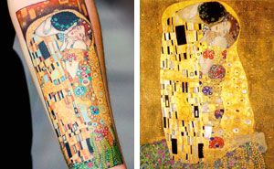 10+ Gustav Klimt Tattoos To Show Your Artistic Side
