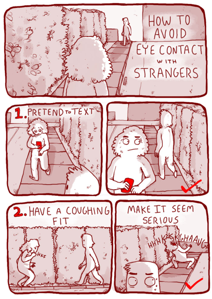 6 Ways How To Avoid Eye Contact With Strangers - Fullact ...