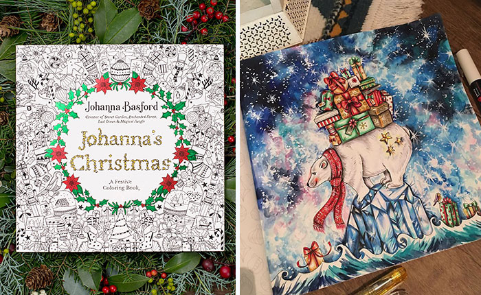 I Spent My Summer Listening To Christmas Tunes Create This Themed Adult Coloring