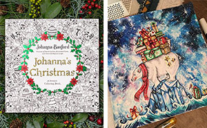 I Spent My Summer Listening To Christmas Tunes To Create This Christmas-Themed Adult Coloring Book