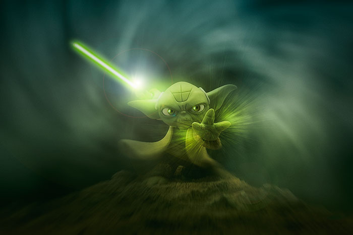 I Use The Force Photographing Toys