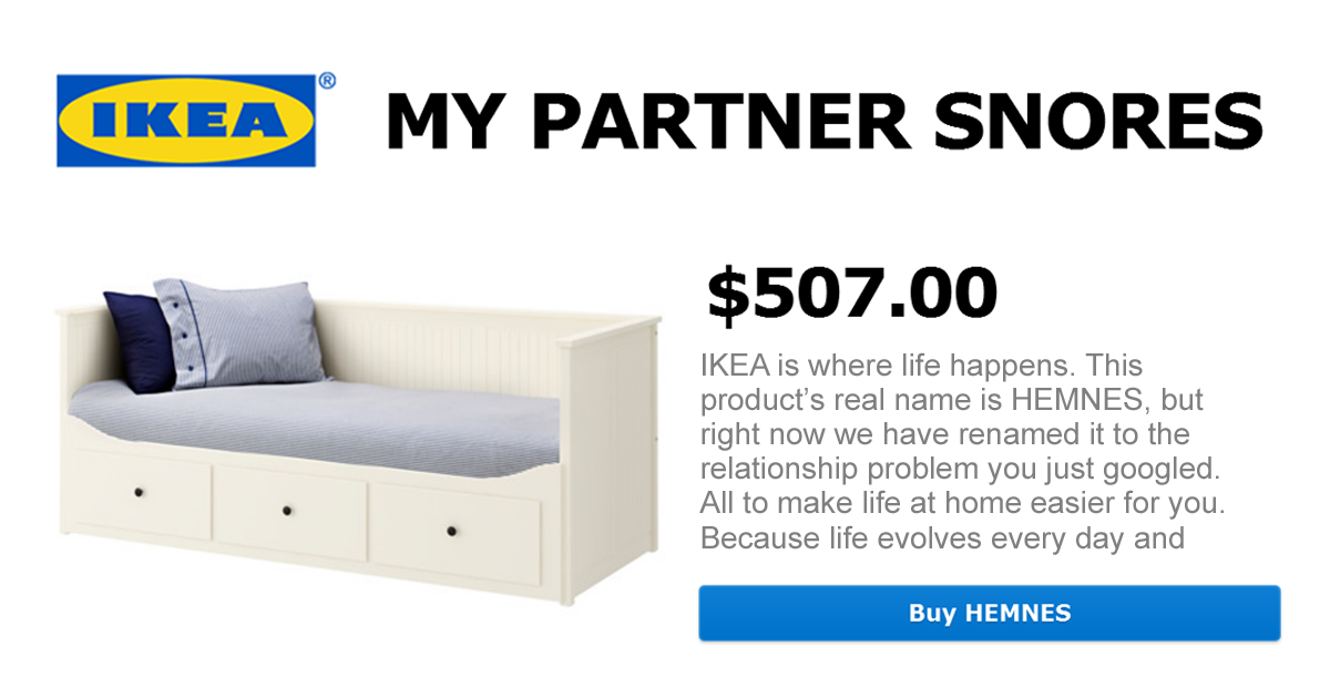 IKEA Renames Products After Most Googled Relationship Problems (101 Pics)