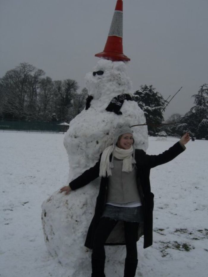 "Tallest Snowman On ""snow Day"" Royal Holloway University London 2007!"