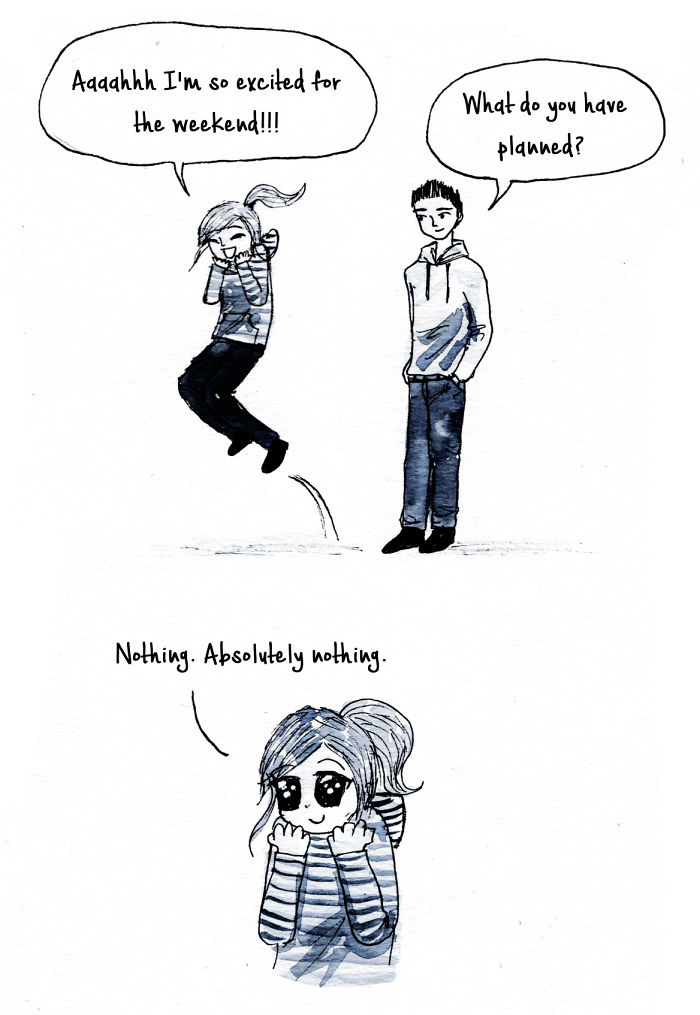 10+ Introvert Comics By Debbie That Only People With ...