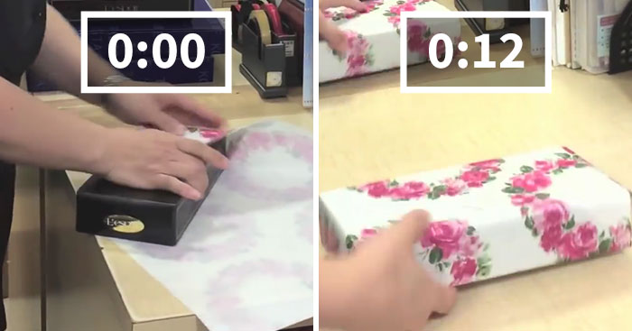 Guy Reveals Japanese Gift Wrapping Hack That Lets You Wrap Your Gifts In Less Than 15 Secs