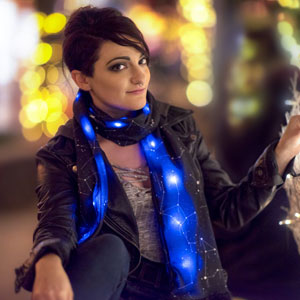 This Starry LED Scarf Will Light Up The Universe Around You