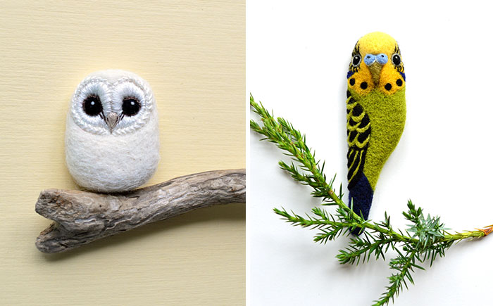 I Needle-Felt Different Species Of Birds Inspired By Nature