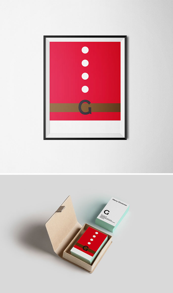 Typography christmas cards that cleverly use characters to for Minimalist christmas
