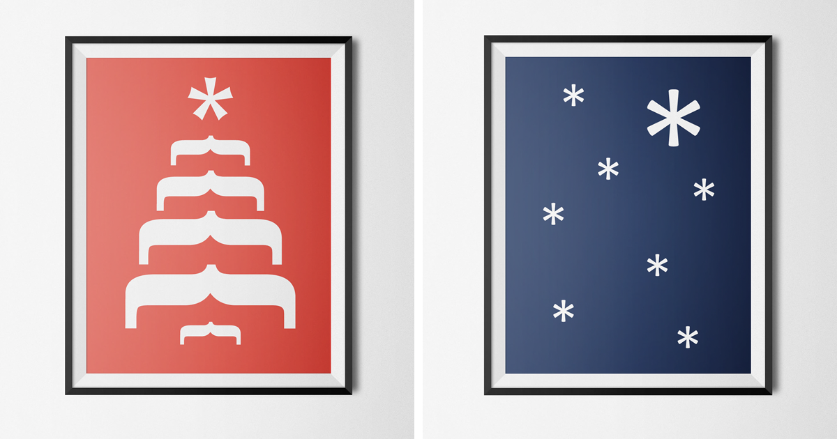 Typography Christmas Cards That Cleverly Use Characters To Create ...