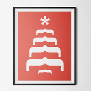 Typography Christmas Cards That Cleverly Use Characters To Create Holiday Messages