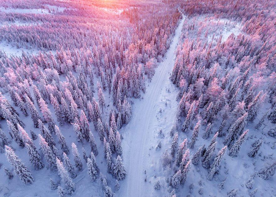 Finlandés Fotografía Invierno Laponia