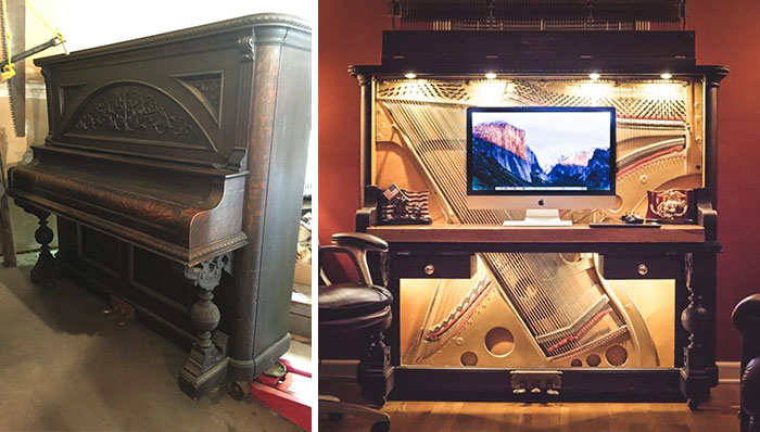 I Turned A 1907 Upright Piano Into A Luxurious Desk