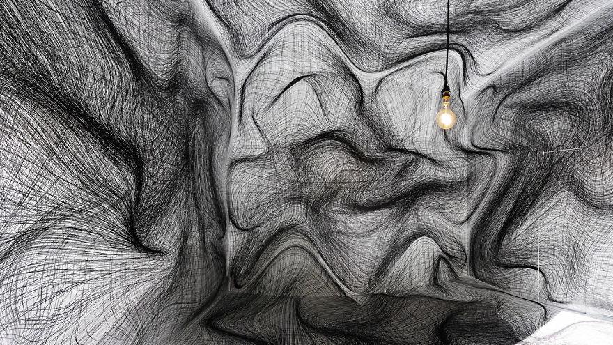 Optical Illusion Rooms By Peter Kogler Will Give You Vertigo | Bored ...