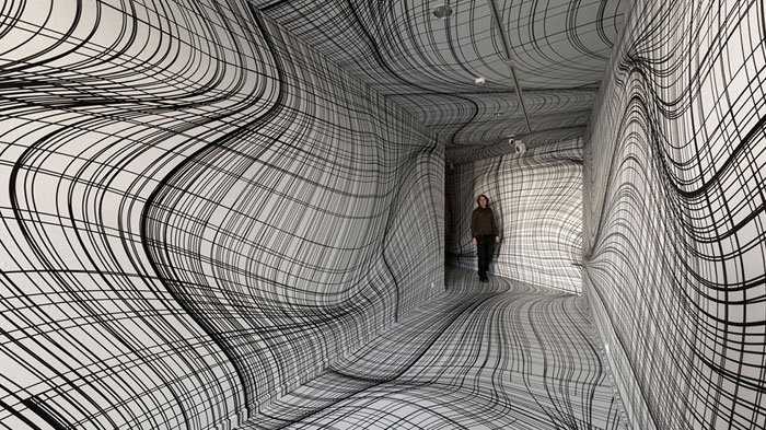 Optical Illusion Rooms By Peter Kogler Will Give You Vertigo
