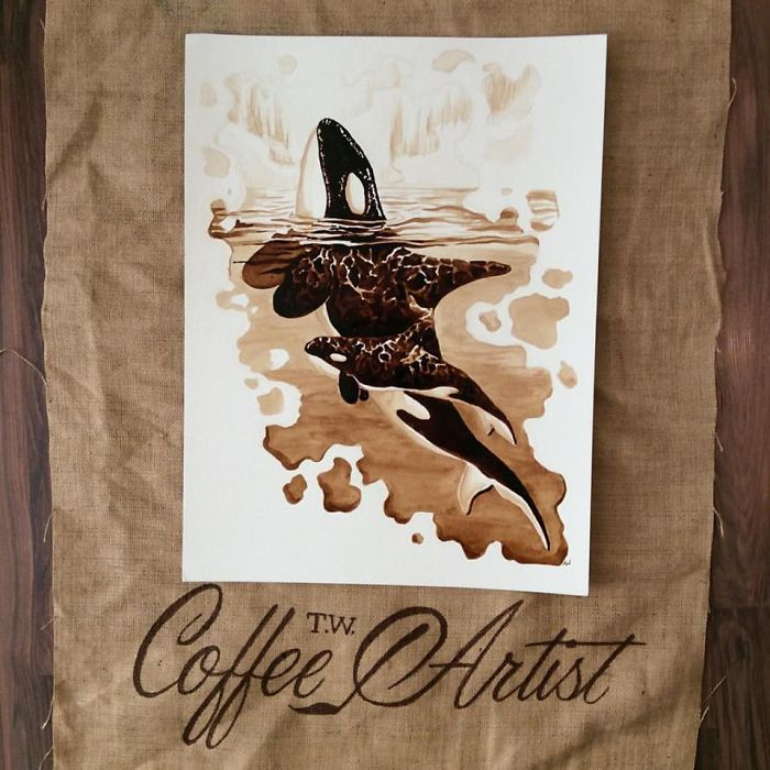 Painting With 100% Real Coffee