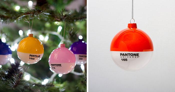 PANTONE Glass Christmas Ornaments