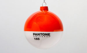 PANTONE Glass Christmas Ornaments