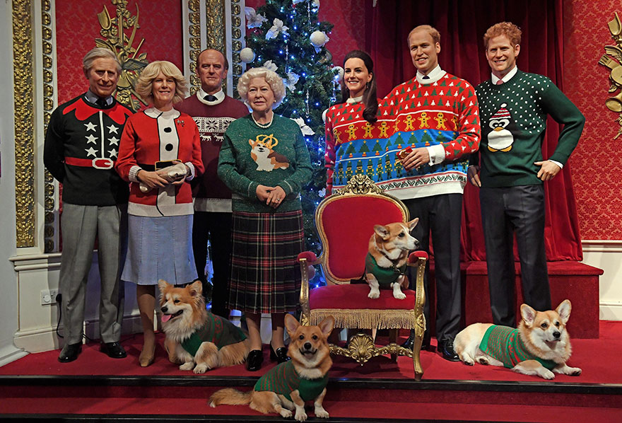 royal-family-wax-figurines-ugly-christmas-sweaters-7