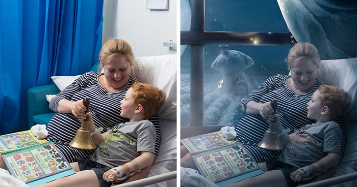 This Photographer Is Using Photoshop To Give Seriously Sick Children A Magical Christmas They Couldn't Have