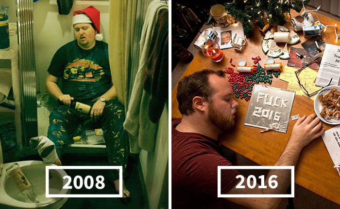"In 2008 Mom Told Son To ""Sober Up"" And Make His Own Christmas Cards, Son Delivers Every Year"