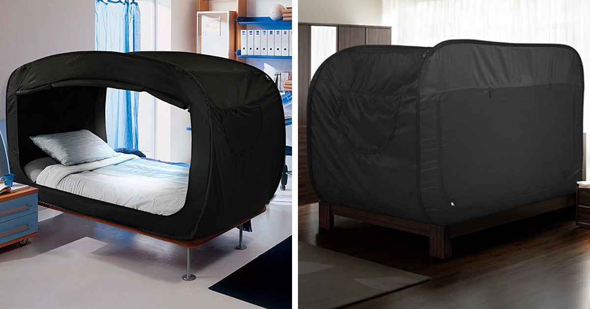 u201cPrivacy Bedu201d That Converts Into A Fort Is A Dream Come True For People With Anxiety | Bored Panda & Privacy Bedu201d That Converts Into A Fort Is A Dream Come True For ...