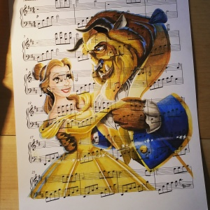 I Draw Scenes From Famous Animated Movies On Music Sheets Of Their Theme Songs