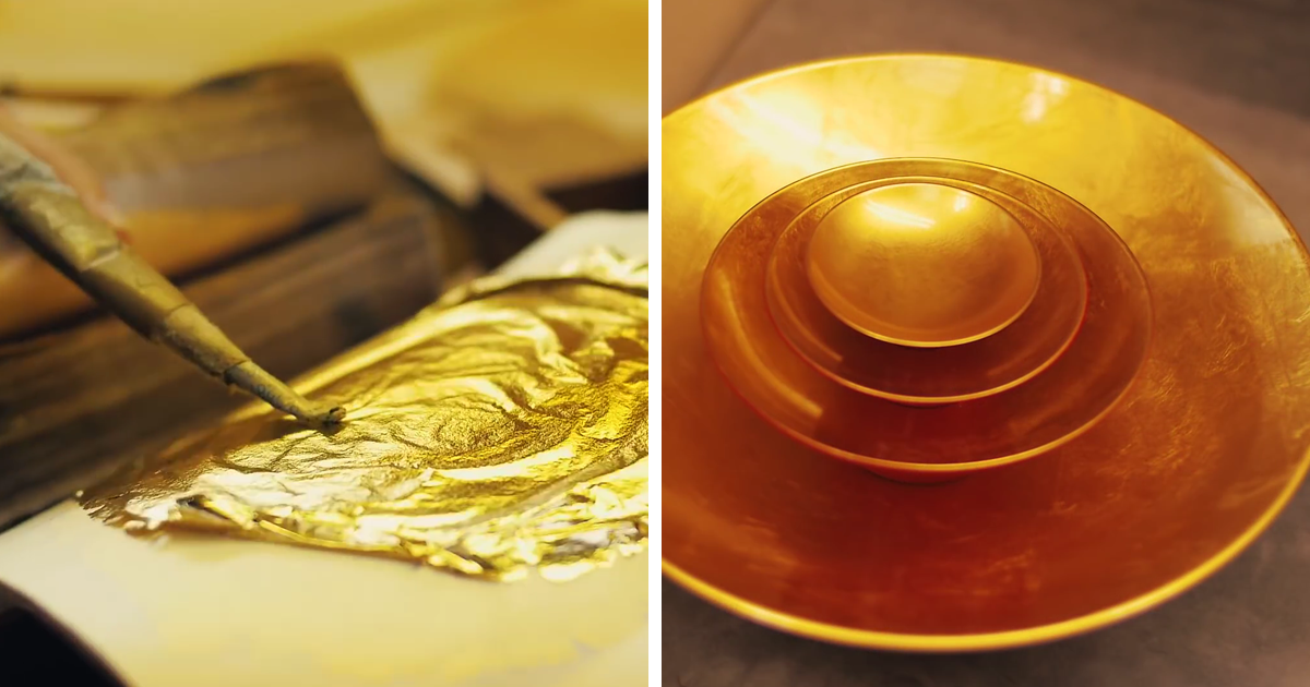 Amazing Japanese Gold Leaf Decoration Technique