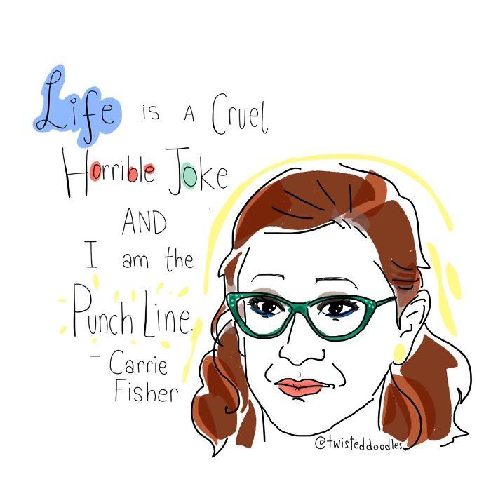 """life Is A Cruel Horrible Joke And I Am The Punchline"""