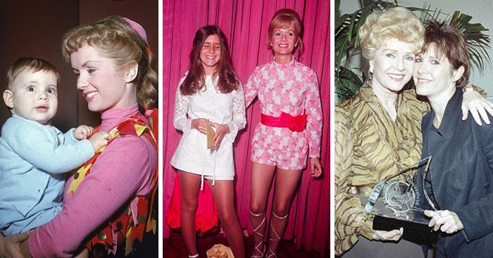 31 Emotivas fotos antiguas de Carrie Fisher y Debbie Reynolds creciendo juntas