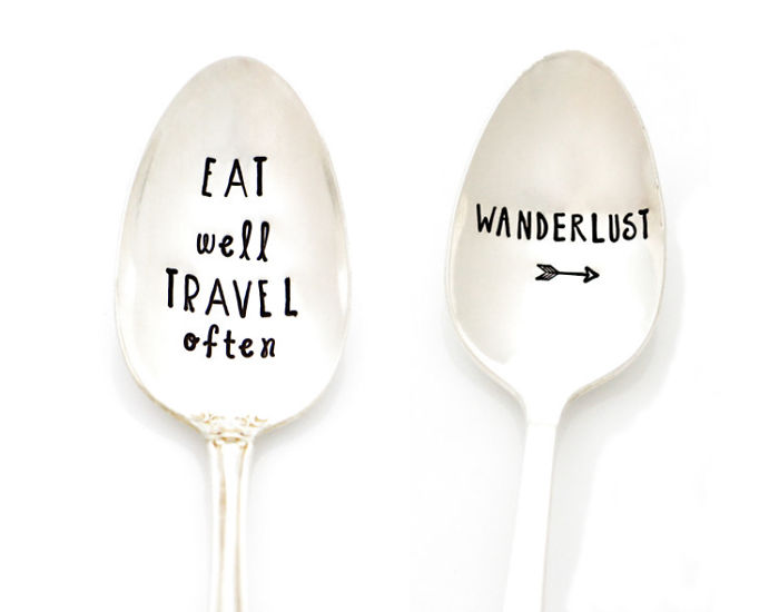 Stamped Spoon For Coffee, Tea, And Adventures