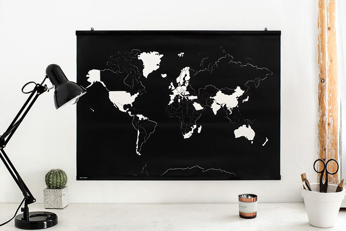 Sticker World Map Which Lets You Remove The Stickers From The Places You've Been