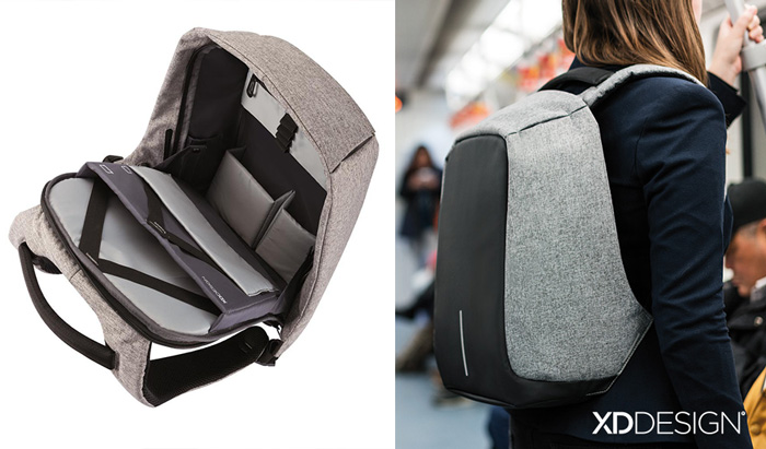 Anti Theft Backpack Where The Zipper Is Fully Hidden Inside And No Thief Will Find How To Open It
