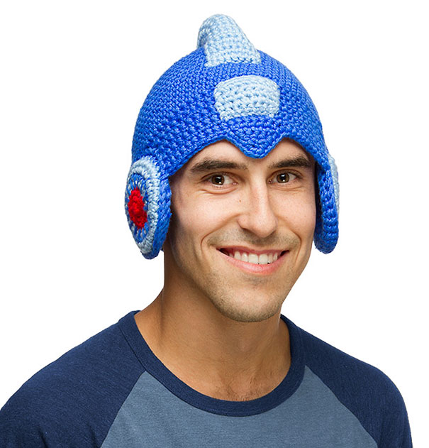 Mega Man Crochet Hat
