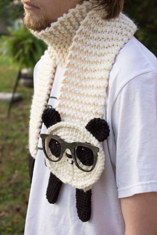 Hipster Panda Scarf
