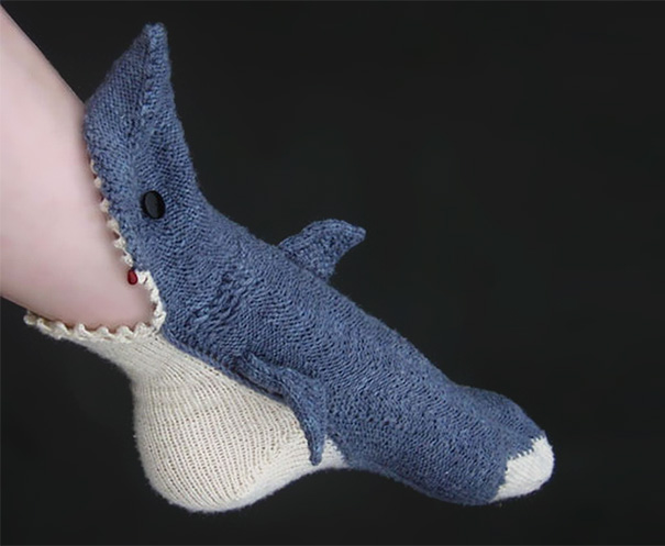 Knit Shark Sock