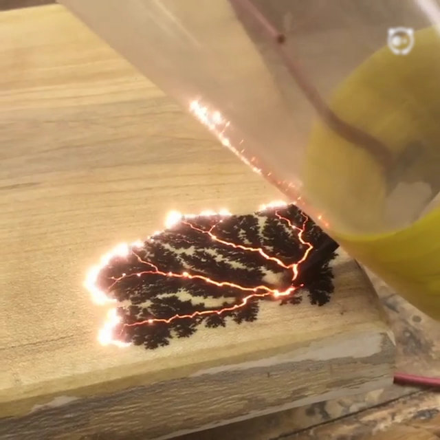 Wood Art Made With Electricity